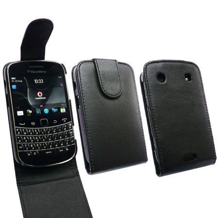 Housse flip BlackBerry Bold 9900 - Noire