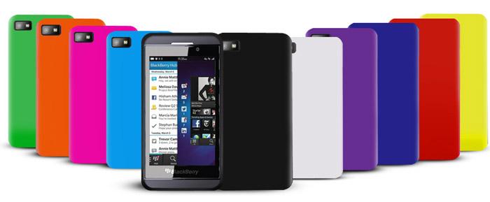Pack de 10 Coques silicones Blackberry Z10