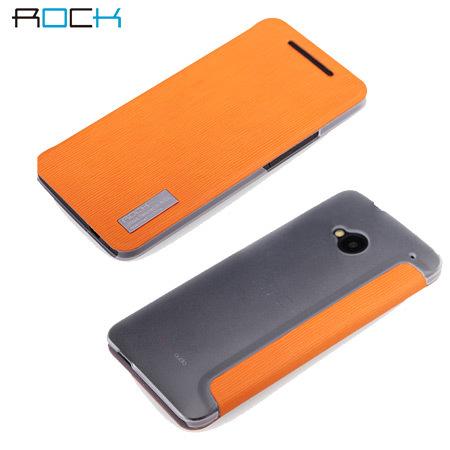 Housse HTC One Rock Elegant Side Flip - Orange