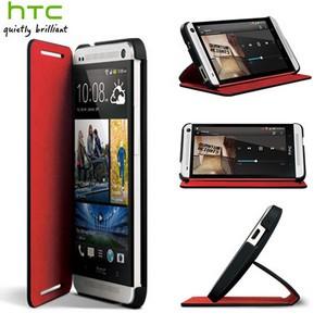 Housse HTC One Double Flip HC C841 Noire  Rouge