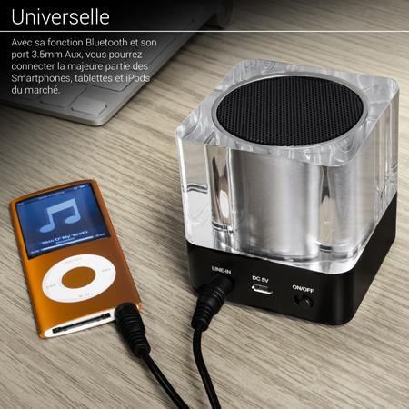 Enceinte Bluetooth Olixar Light Cube Lumière