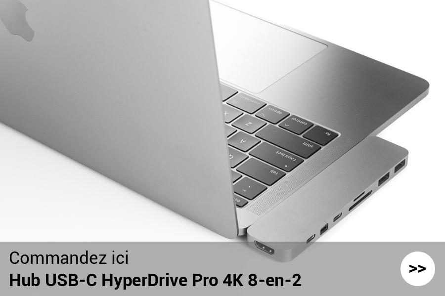 Hub multiport HyperDrive Pro 4K 8-en-2 – Gris espace